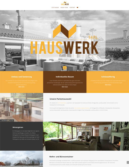 Hauswerk.sarl Webseiten-Screenshot